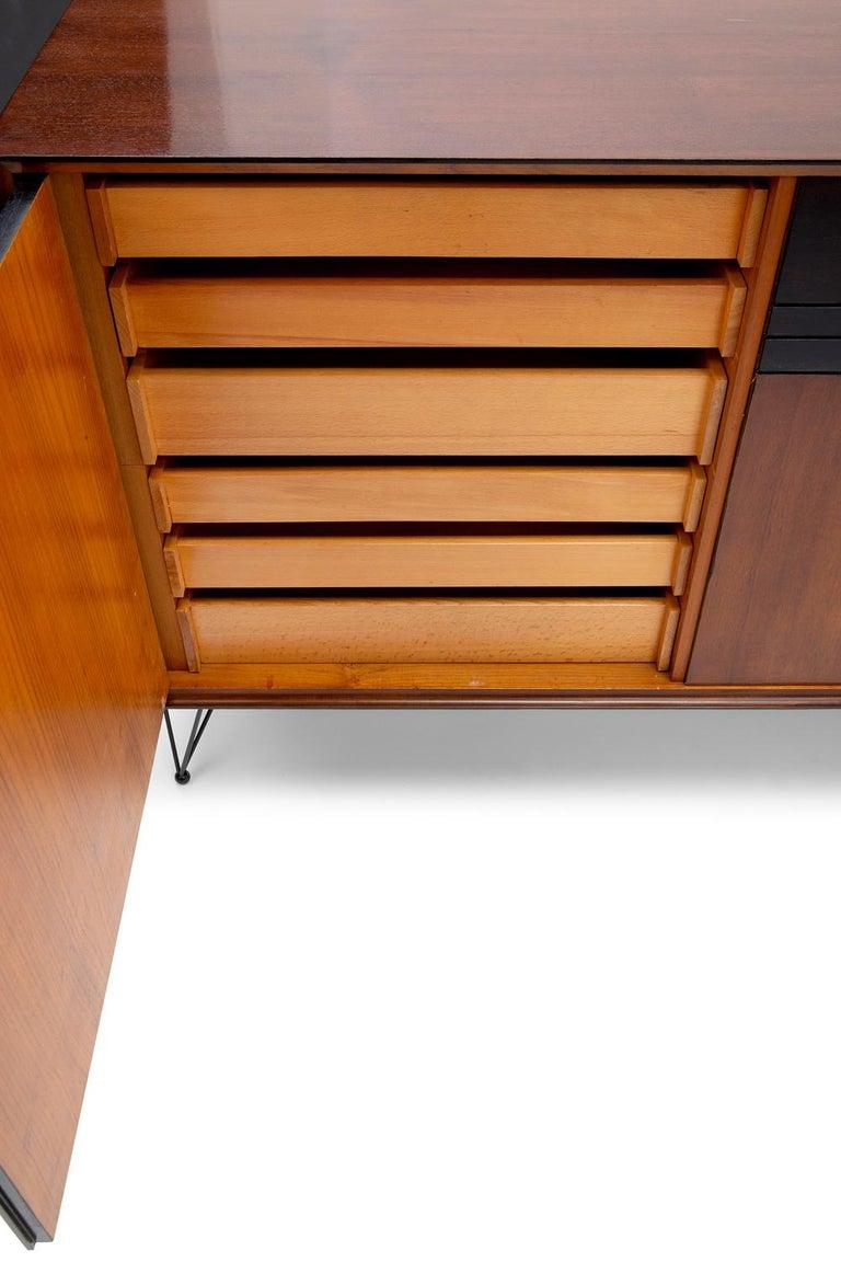 Baxter Low Cabinet No. 6 in Dark Walnut with Gradient Facade by Draga & Aurel For Sale 2