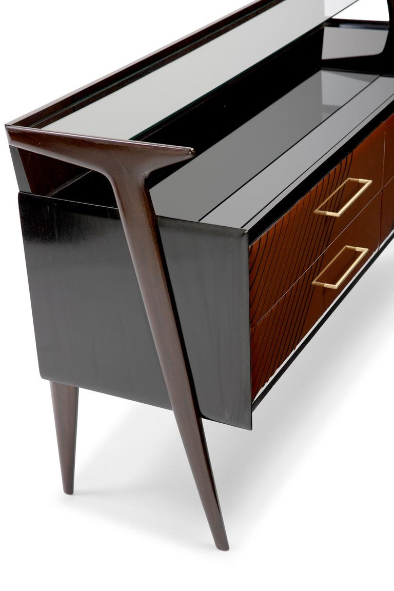 Modern Baxter Maurizio Cabinet in Rosewood with Multi-Tone Facade by Draga & Aurel For Sale