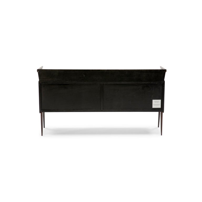 Baxter Maurizio Cabinet in Rosewood with Multi-Tone Facade by Draga & Aurel For Sale 1