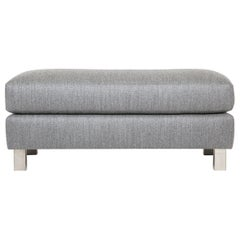 Baxter Ottoman Semi-Attached Cushion, Metal Legs or Wood Legs, Walnut Oak, Maple