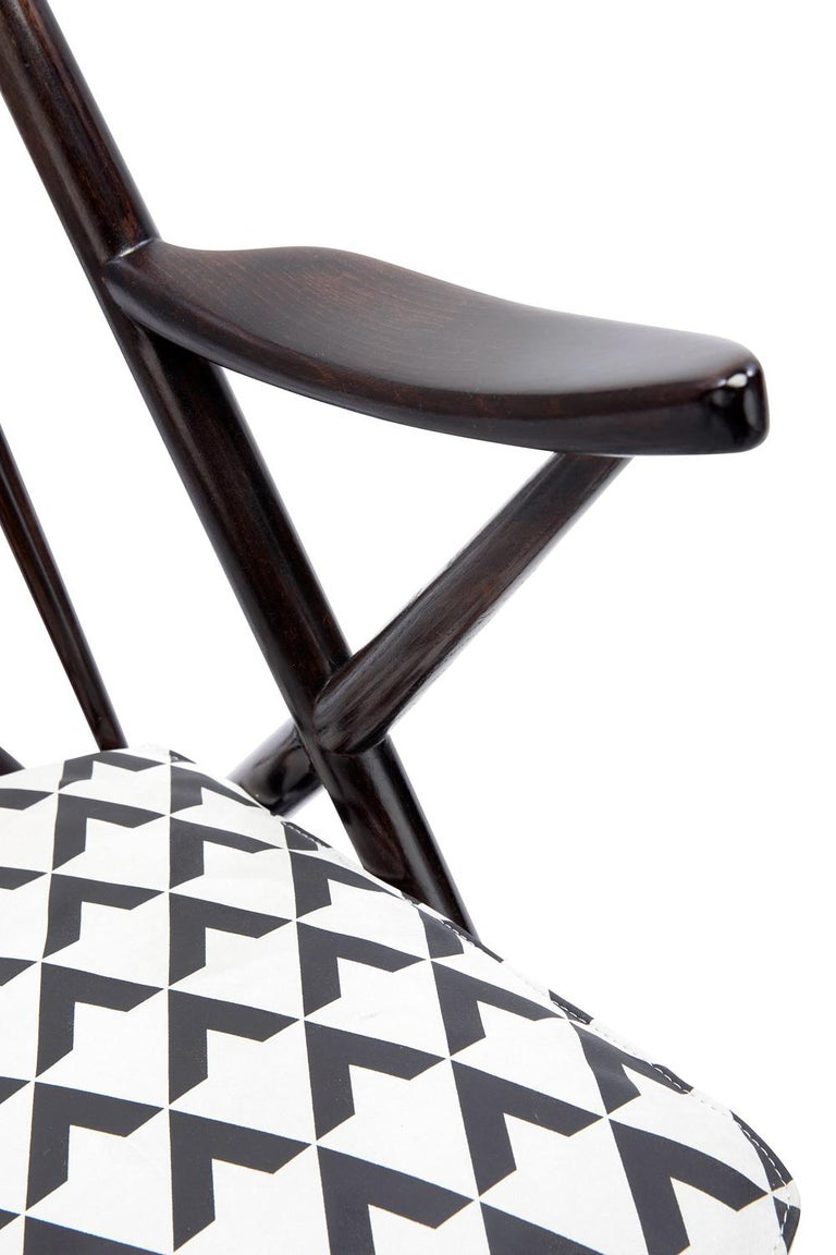 Baxter Rocking Armchair No. 1 in Rosewood and White Leather by Draga & Aurel In New Condition For Sale In New York, NY