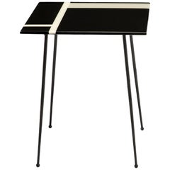 Baxter Table No. 5 in Black, Dune & Durian White with Iron Base by Draga & Aurel
