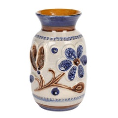 Bay Keramik Mid-Century West German Floral Design Art Pottery Vase
