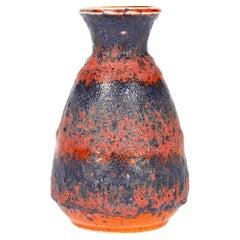 Bay Keramik West German Mid-Century Volcanic Fat Lava Glazed Art Pottery Vase