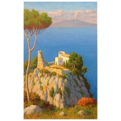 Bay of Naples and Mt Vesuvius Oil Painting by Willem Welters