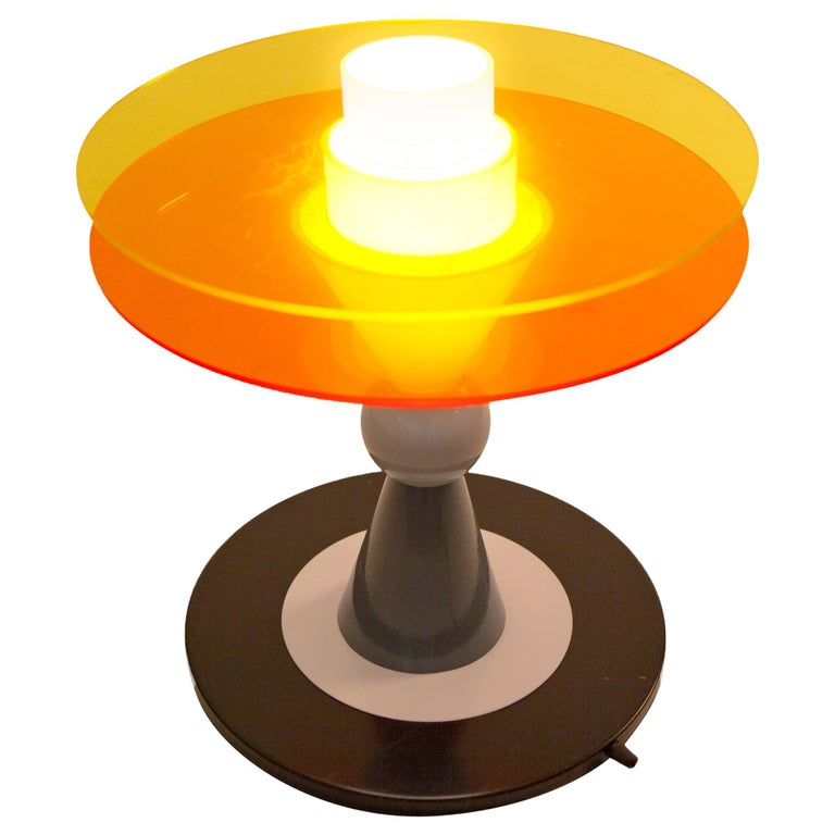 Bay Table Lamp USA, 110 Volts, by Ettore Sottsass for Memphis Milano Collection For Sale