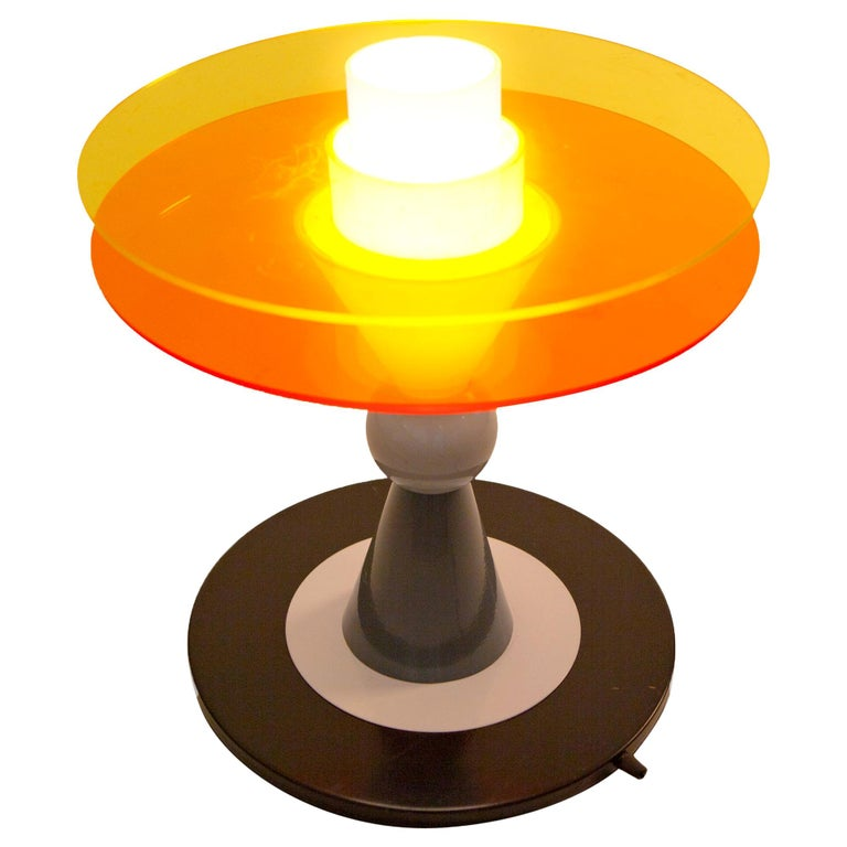 Bay Table Lamp 'EU' 220 Volts, by Ettore Sottsass from Memphis Milano For Sale