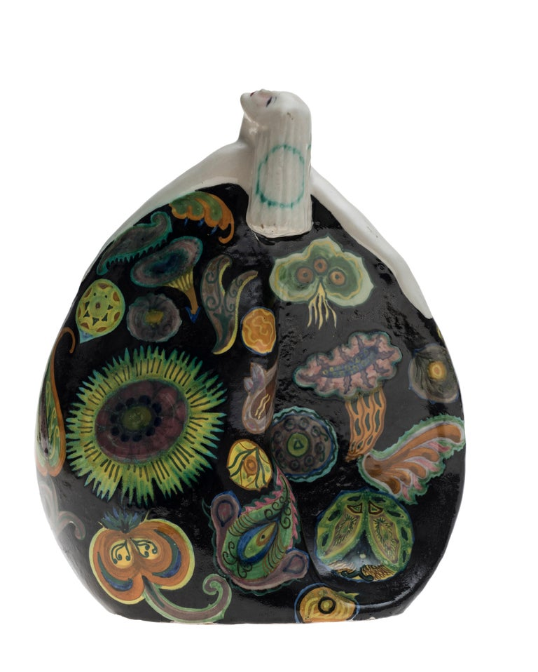 Terracotta Bayadera by Francesco Nonni, 1930 - Manufacturer Melandri Faenza For Sale