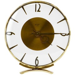 Bayard French Art Deco Round Clock, 1930s