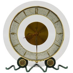 Bayard, French Art Deco Round Clock, 1930s