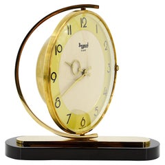Bayard French Art Deco Swiveling Table Clock, 1930s