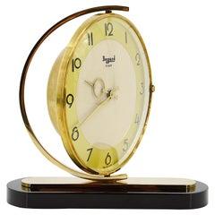 Bayard French Art Deco Swiveling Table Clock, 1930s
