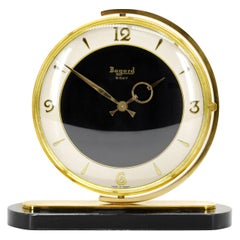 Bayard French Art Deco Swivelling Table Clock, Black Dial, 1930s