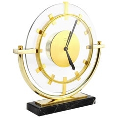 Bayard French Art Deco Table Clock, 1930s