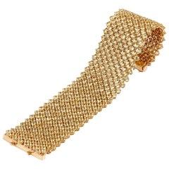 Bayco 68.61 Carat No Heat Yellow Sapphire 18 Karat Gold Bracelet