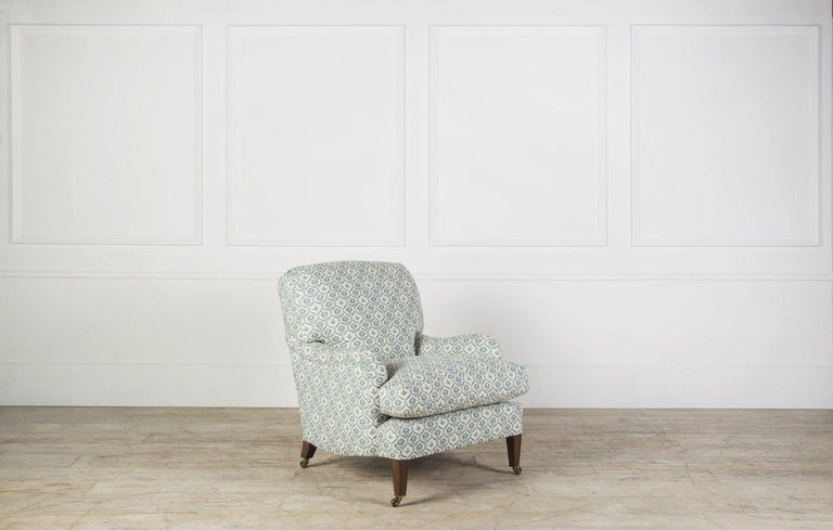 Made to order from our Bespoke Upholstery collection, The Bayswater armchair design has been gracing drawing rooms for nearly 150 years. This elegantly proportioned design classic was made by Howard and Sons and named the 'Bridgewater'. Built and