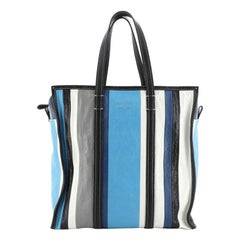 Bazar Tote Striped Leather Medium