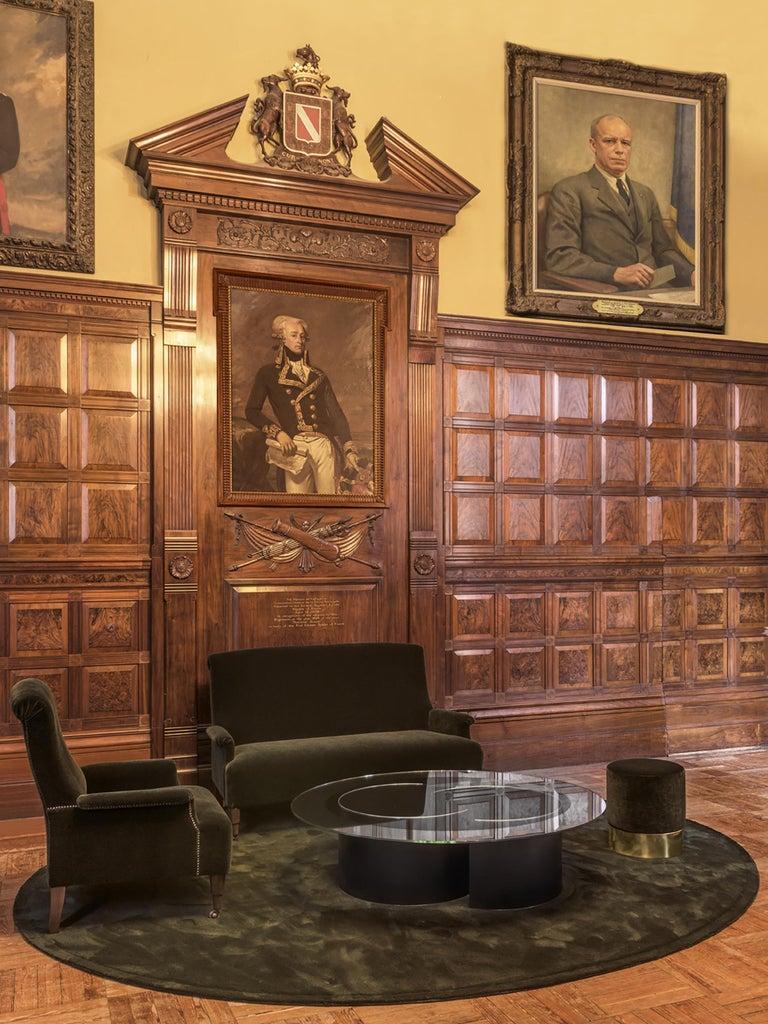 Mohair Azucena ABCD Armchair by Luigi Caccia Dominioni For Sale