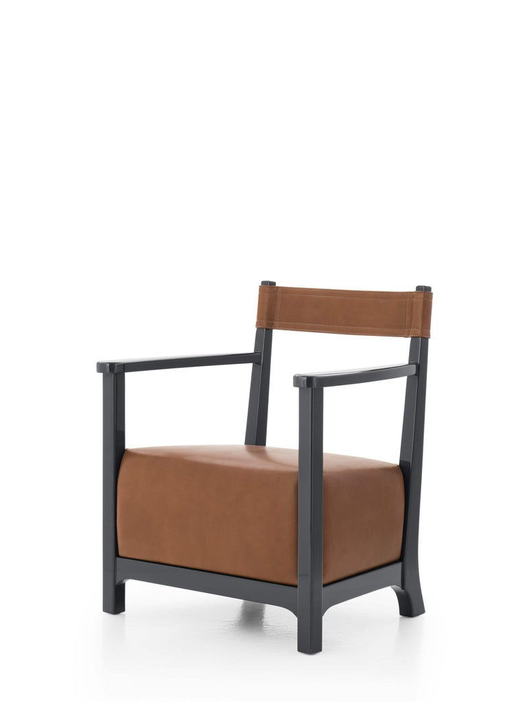 Luigi Caccia Dominioni loved to surprise but never to shock. His objects are a play on scale and proportion as you can see in Chinotto. With a wave of a magic wand this scaled down armchair is extraordinarily comfortable. It's a miniature