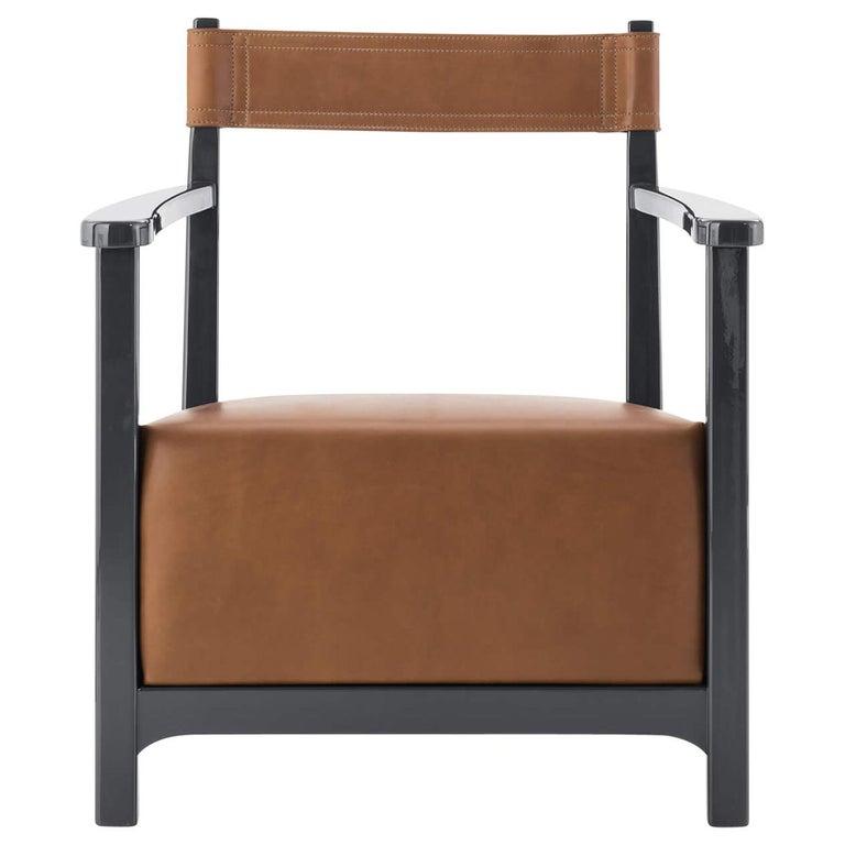 Azucena Chinotto Low Small Armchair by Luigi Caccia Dominioni For Sale