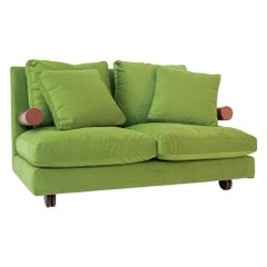 "B&B Italia ""Baisity"" Sofa by Antonio Citterio in Green Velvet, 1980s"