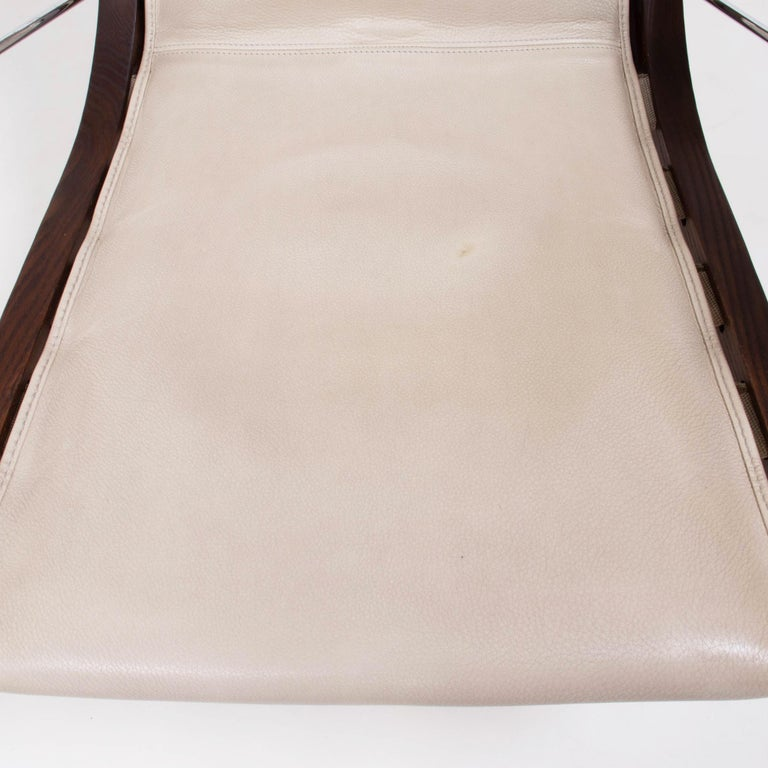 B&B Italia by Antonio Citterio Cream Leather J.J. Armchair, 2012 For Sale 6