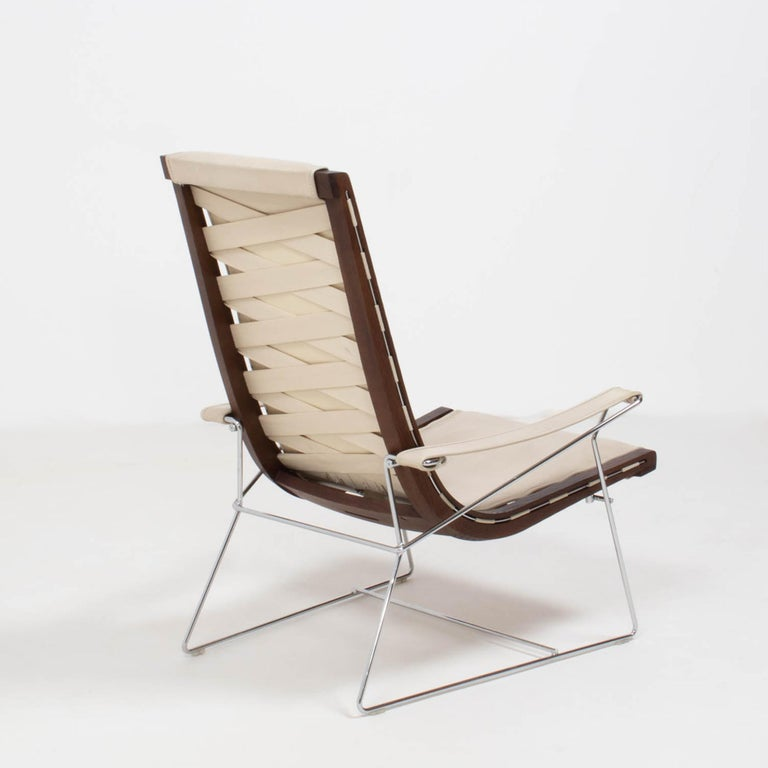 B&B Italia by Antonio Citterio Cream Leather J.J. Armchair, 2012 In Good Condition For Sale In London, GB