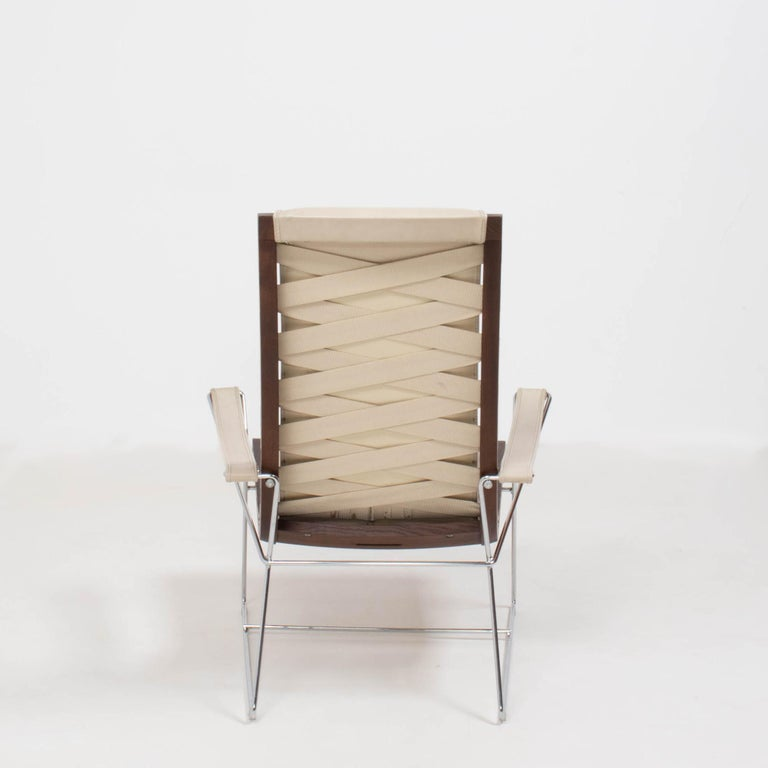 Contemporary B&B Italia by Antonio Citterio Cream Leather J.J. Armchair, 2012 For Sale