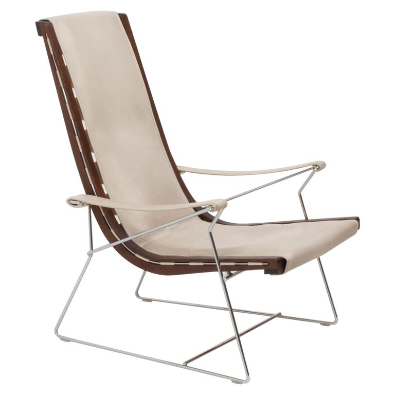 B&B Italia by Antonio Citterio Cream Leather J.J. Armchair, 2012 For Sale