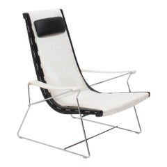 B&B Italia by Antonio Citterio White Cowhide Leather J.J. Armchair, 2012