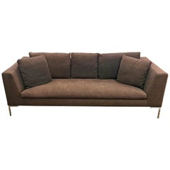 B&B Italia Charles Brown Sofa Designed by Antonio Citterio Made in Italy