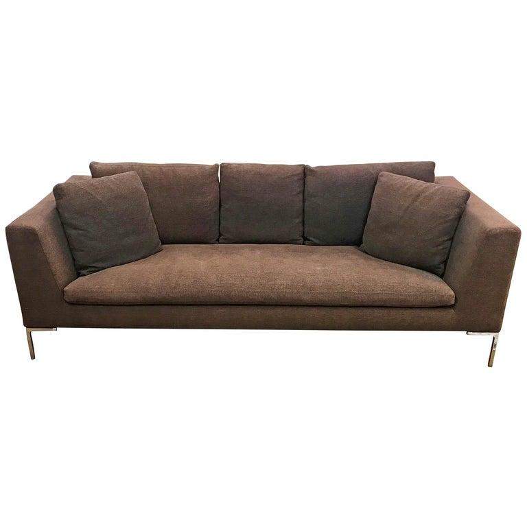 Bb Italia Charles Brown Sofa Designed By Antonio Citterio Made In