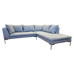 B&B Italia Charles Sectional Sofa by Antonio Citterio Newly Upholstered