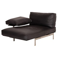 B&B Italia Diesis Leather Lounger Black Sofa
