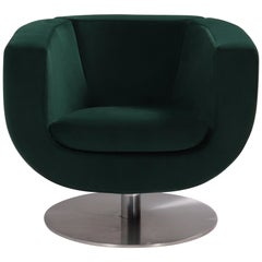 B&B Italia Green Tulip Armchair by Jeffrey Bernett