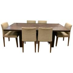 B&B Italia Italy Dining Room Suite Set Designed Antonio Citterio Chairs & Table