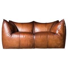 B&B Italia Le Bambole Sofa in Tan Leather