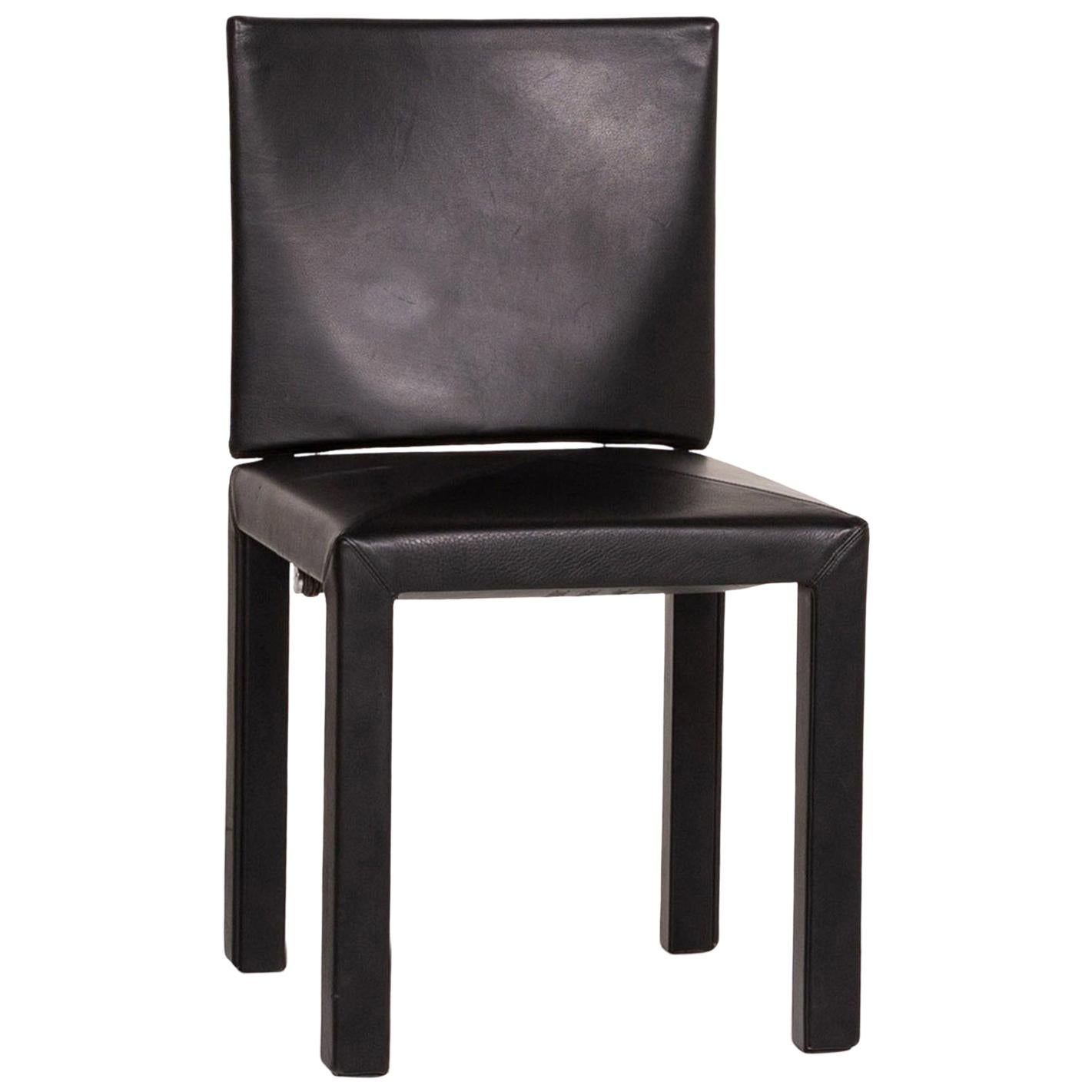B&B Italia Leather Chair Black