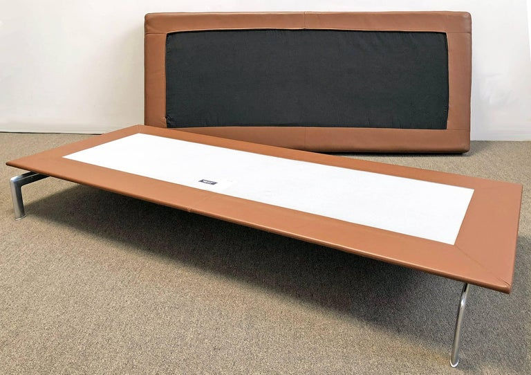 Hand-Crafted B&B Italia Leather Ottoman or Daybed For Sale