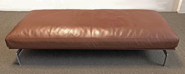 B&B Italia Leather Ottoman or Daybed In Excellent Condition For Sale In Los Angeles, CA