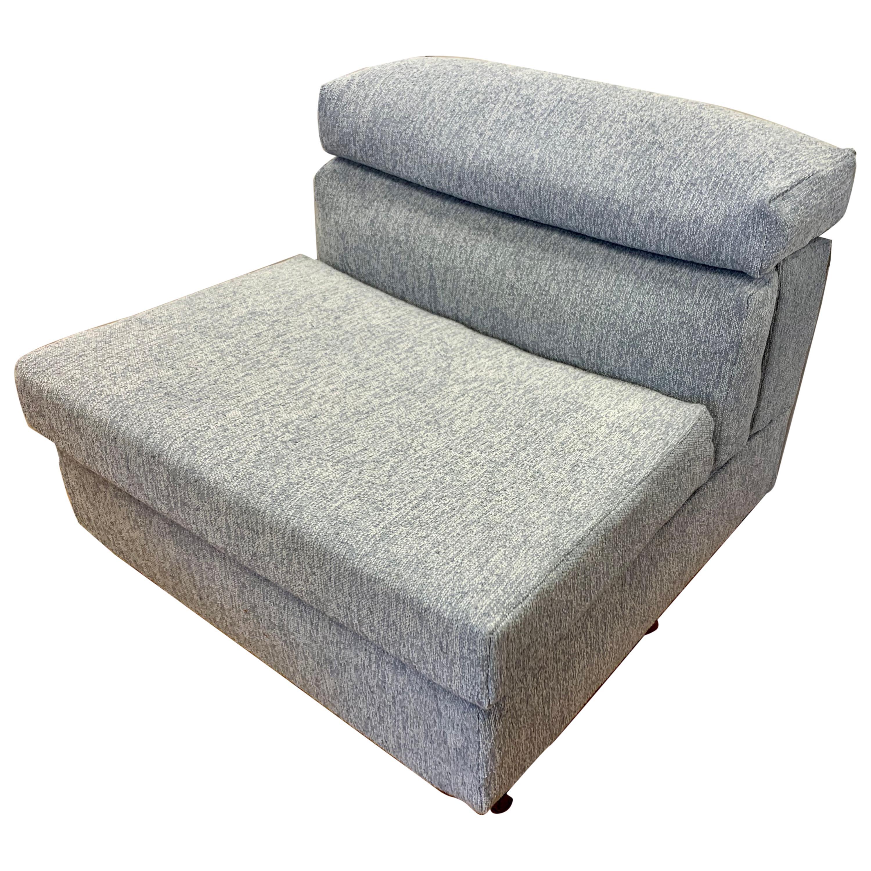 B&B Italia Lounge Chair Erasmo Newly Upholstered in Donghia Boucle Afra& TScarpa