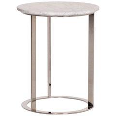 B&B Italia Mera Marble Table White Coffee Table Metal