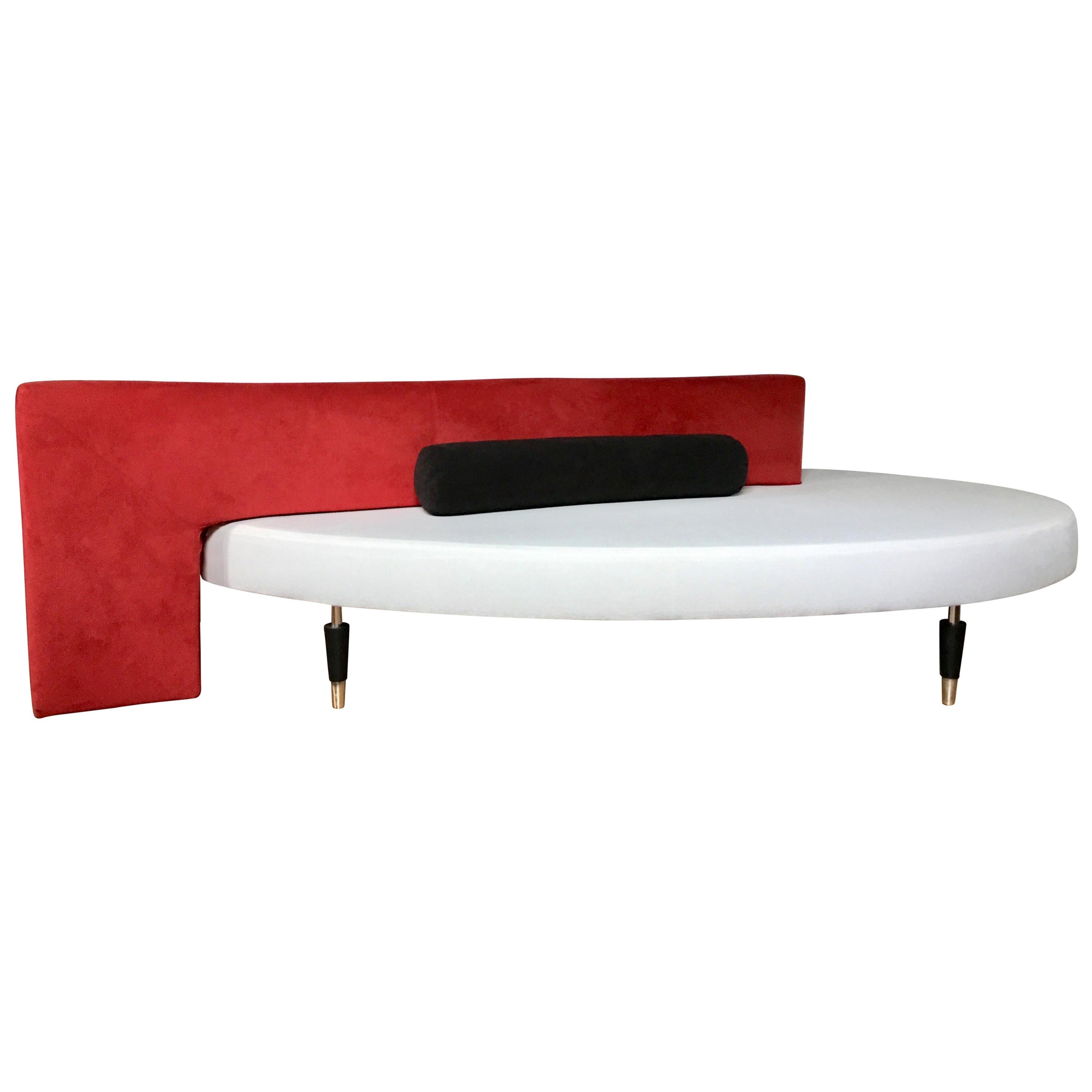 B&B Italia Modern Memphis Style Sculptural Sofa Chaise Bench, Paolo Piva, Italy