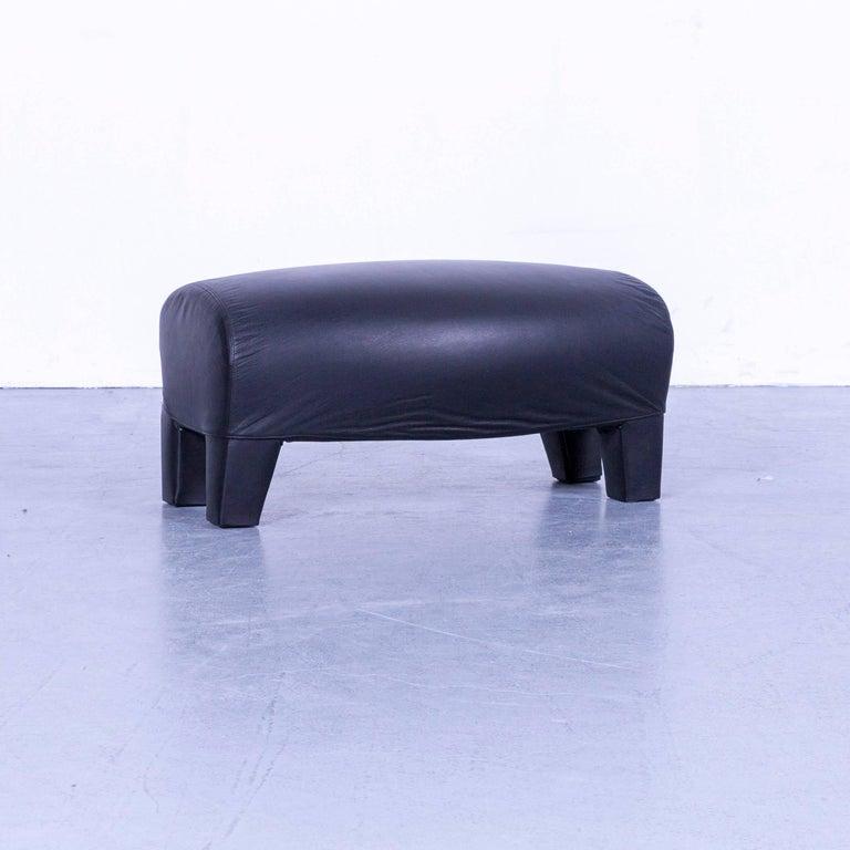 B&B Italia Oriente Designer Leather Sofa Set Three-Seater + Foot-Stool 6