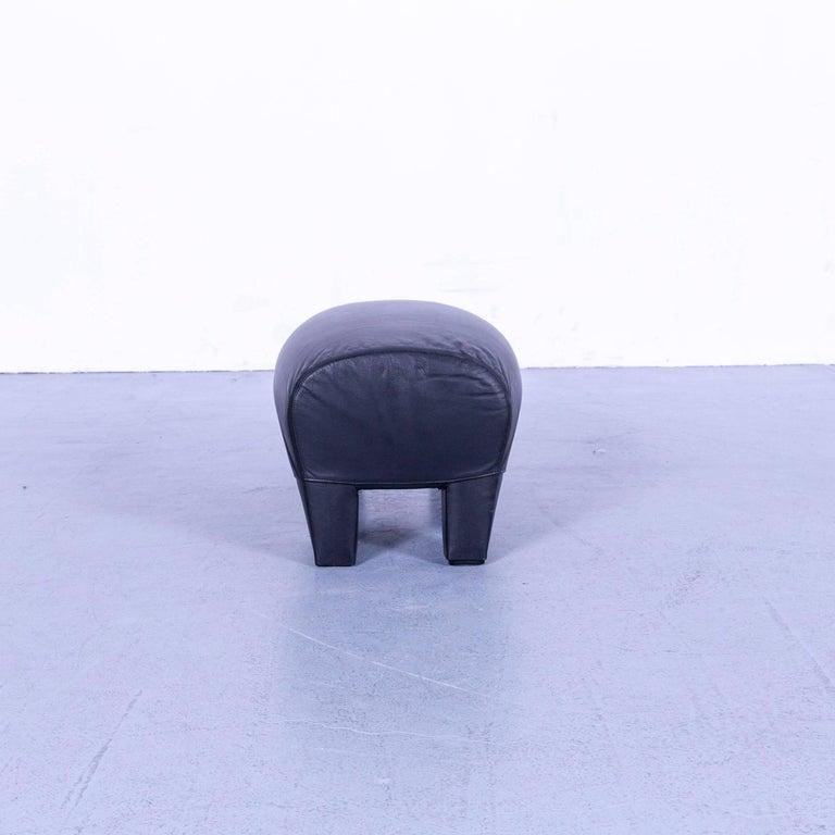 B&B Italia Oriente Designer Leather Sofa Set Three-Seater + Foot-Stool 8