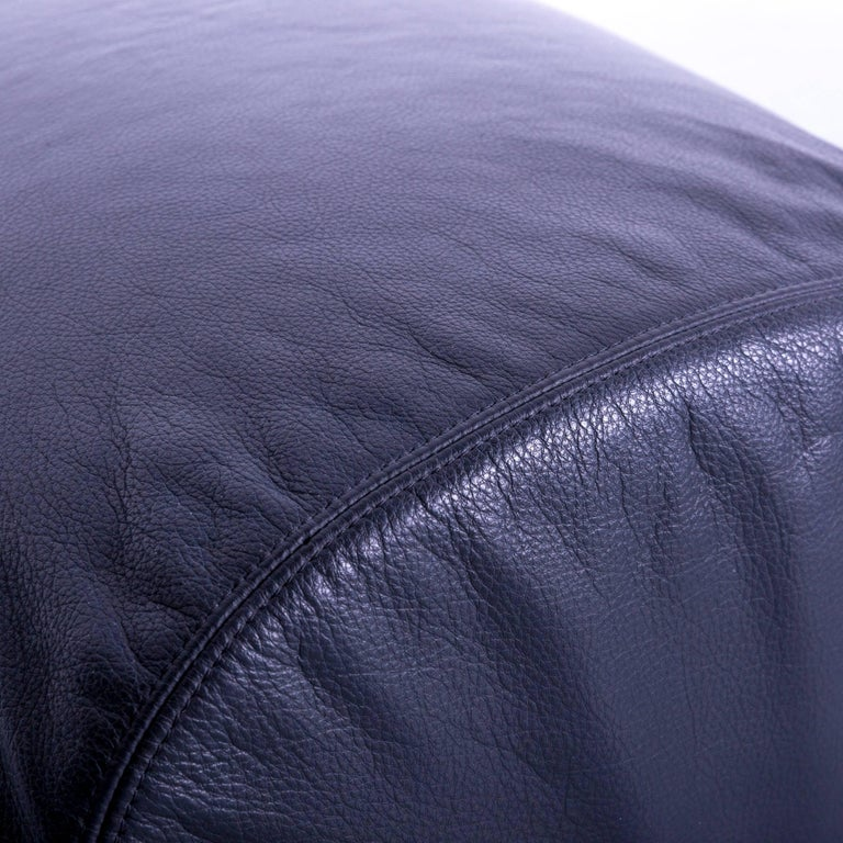 B&B Italia Oriente Designer Leather Sofa Set Three-Seater + Foot-Stool 9