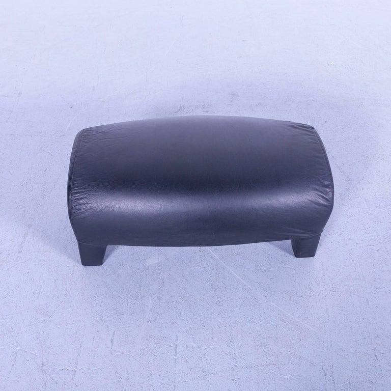 B&B Italia Oriente Designer Leather Sofa Set Three-Seater + Foot-Stool 11