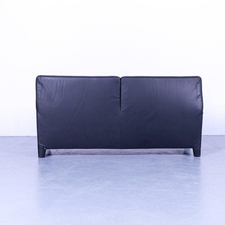 B&B Italia Oriente Designer Leather Sofa Set Three-Seater + Foot-Stool 4