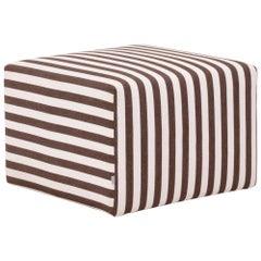 B&B Italia P60 Brown Striped Fabric Ottoman by Antonio Citterio