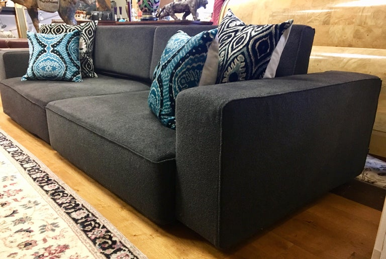 Italian B&B Italia Signed Andy Two-Piece Sectional Sofa by Paolo Piva Made in Italy For Sale